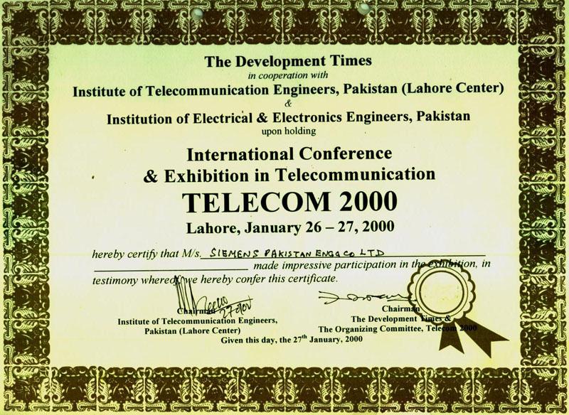 Certificates parvez iftikhar international ict consultant international telecom conference yelopaper Choice Image
