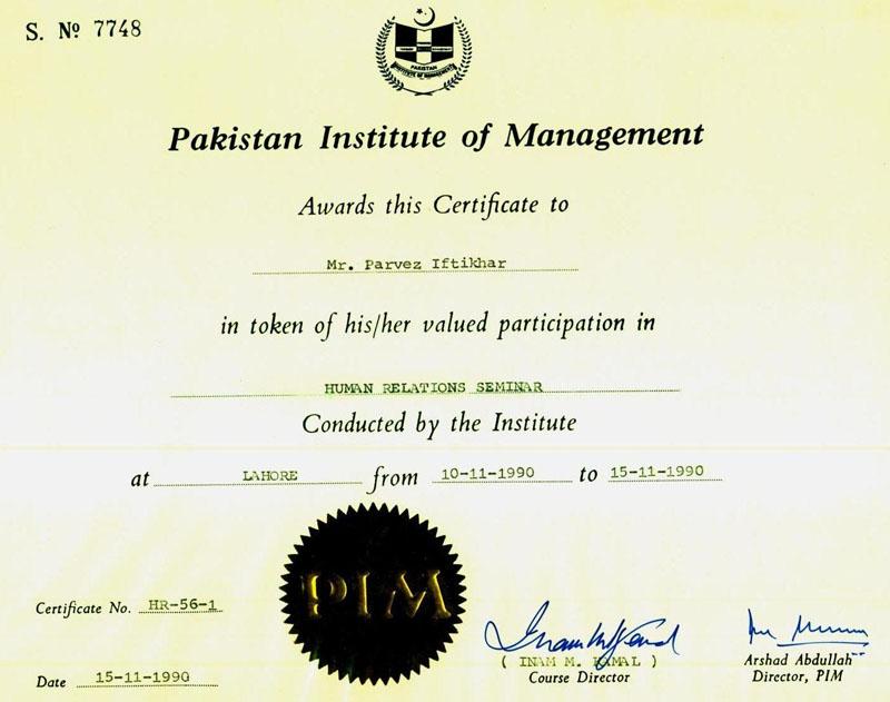 certificates parvez iftikhar international ict consultant