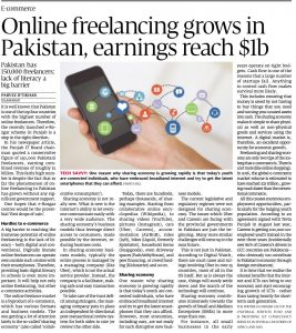 PI- Article Online freelancing grows in Pak 10Apr17