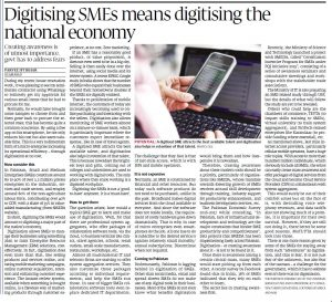 PI Article - Digitising SMEs means digitising the national economy 29-Jun-17