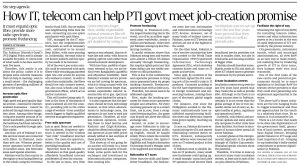 How IT, telecom can help PTA govt meet job-creation promise