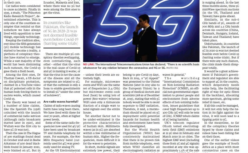 The Express Tribune: Corona and 5G conspiracy theories, 04 May 2020