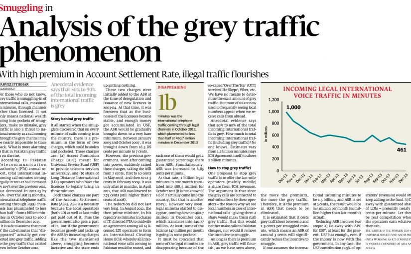 The Express Tribune: Smuggling in Analysis of the grey traffic phenomenon