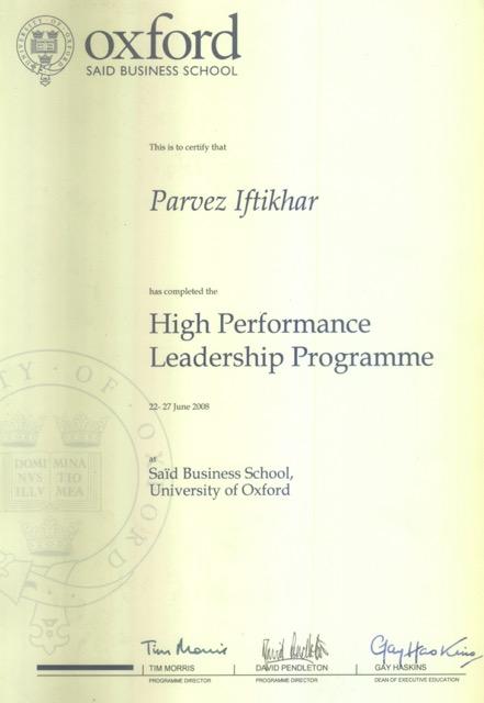 Certificates – Parvez Iftikhar