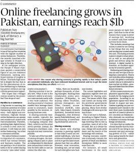 PI- Article Online freelancing grows in Pak 10Apr17
