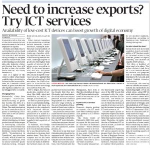 Need to increase exports -Try ICT services, 27Jan2020